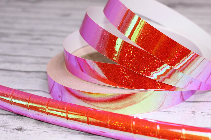 UV Helios Reactive Color Morph Holographic Glitter Taped Polypro or HDPE Hoop