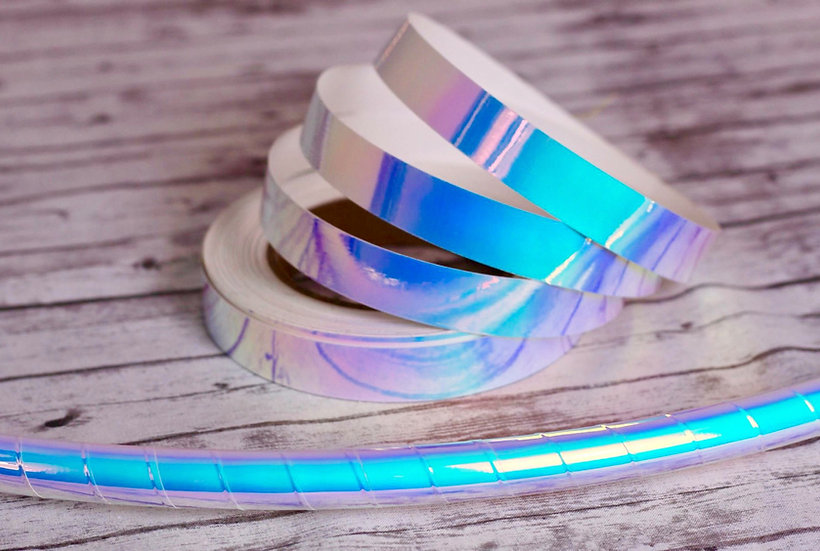 "Unicorn Ice Color-Shifting Morph Taped Polypro or HDPE 3/4"" 5/8"" 11/16"" Hoop"