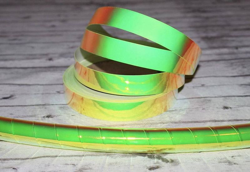 UV Firefly Color-Shifting Green Taped Hoop