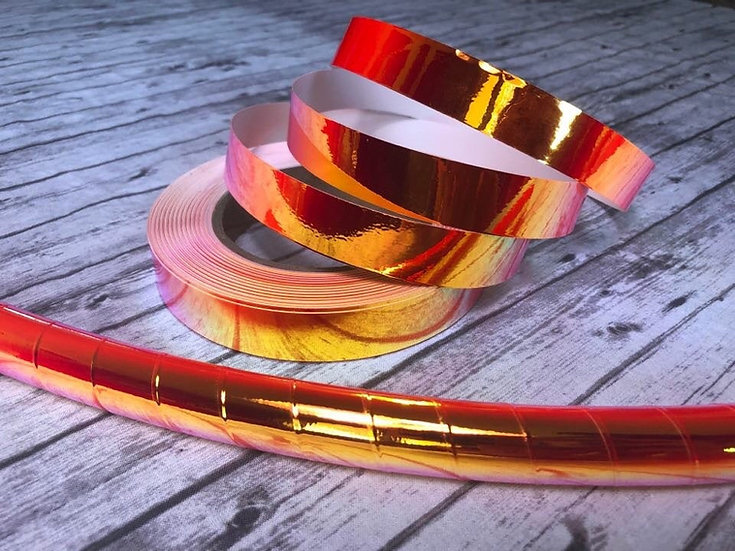 New! Blood Moon Red High Intensity Color-Shifting Taped Performance Hoop