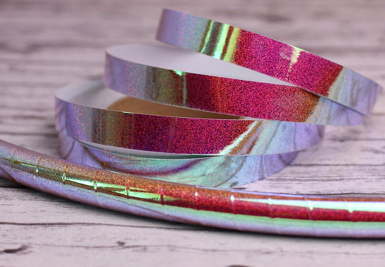 Fire Galaxy Pink Holographic Color-Shifting Taped Polypro or HPDE Hoop