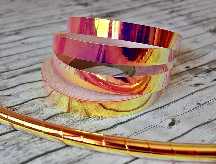 Pink Voltage/UV Pink Firefly Color-Shifting Taped Hoop