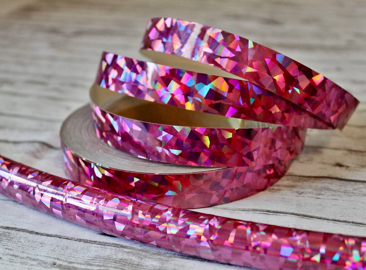 Holographic Rose Gold Crystal Confetti Taped Polypro or HDPE Hoop