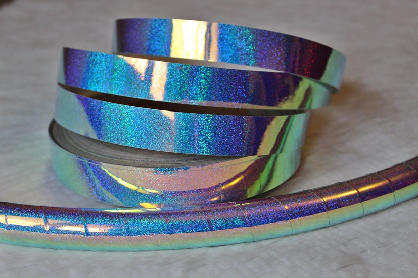 Indigo Galaxy Holographic Color-Shifting Taped Hoop