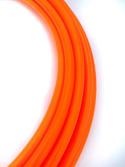 5/8 UV Orange Fluorite Colored Bare Polypro Hoop