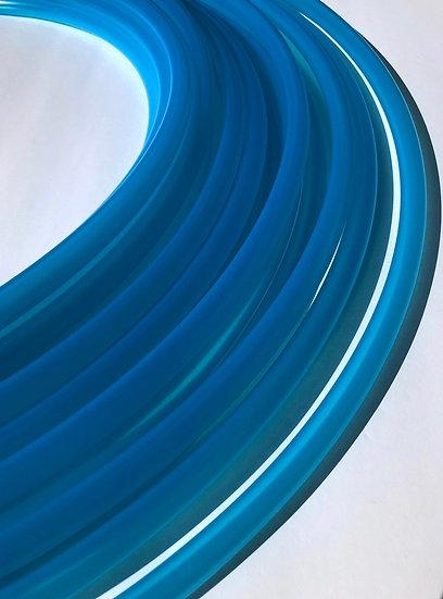 New! 5/8 Aquamarine Semi Translucent Blue Bare Polypro Hoop