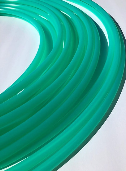 New! 5/8 UV Calcite Green Bare Polypro Dance Hoop