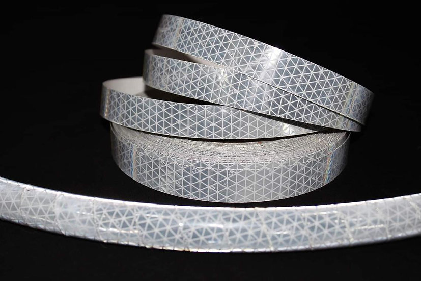 Silver/White High Intensity Reflective Taped Hoop