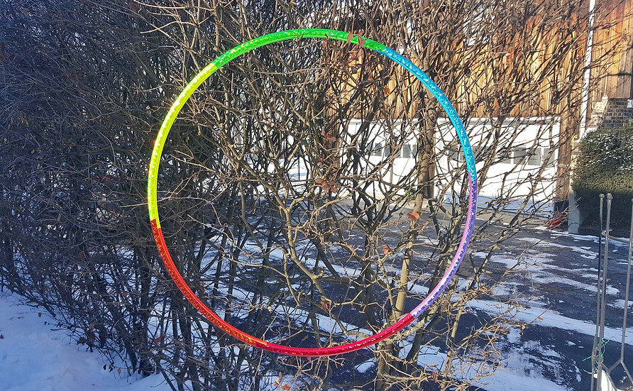 Holographic Rainbow Taped Polypro or HDPE Hoop