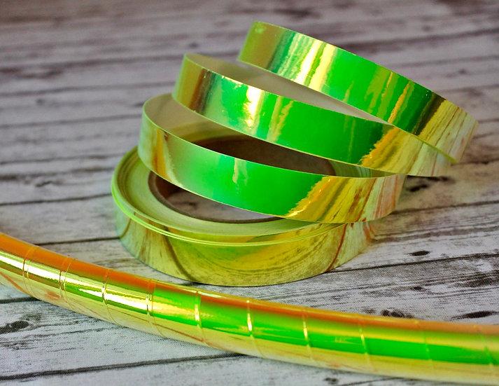 Radioactive Sherbet Green Color-Shifting Taped Polypro or HDPE Hoop