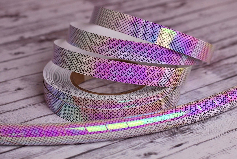 Pearl Sherbet Mermaid Color-Shifting Taped Polypro or HDPE Hoop