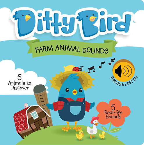 Ditty Bird Musical Book - Farm Animal Sounds