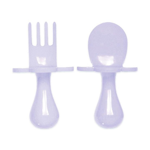 Grabease Self Feeding Spoon and Fork Set - Lavender