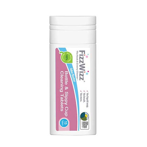 FizzWizz All-Natural Baby Bottle & Sippy Cup Cleaning Tablets 15s