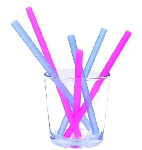 GoSili Silikids Reusable Straws Family Set (Berry/Cobalt)