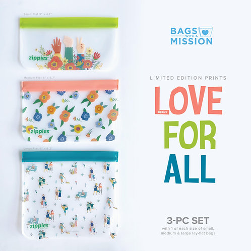 Zippies Love For All 3-pc Sampler Set - Bags With A Mission
