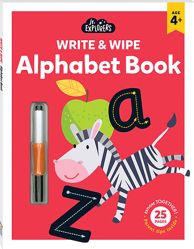 Junior Explorers Write and Wipe: Alphabet Book