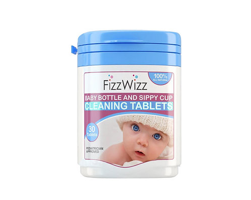 FizzWizz All-Natural Baby Bottle & Sippy Cup Cleaning Tablets 30s
