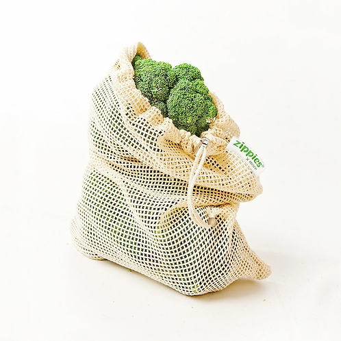Zippies Cotton Mesh Produce Bags - Pack of 5