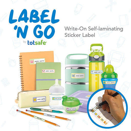 Label 'N Go Write-On Self Laminating Stickers