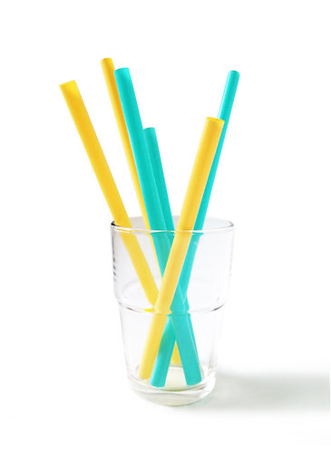 GoSili Silikids Reusable Straws Family Set (Sea/Orange)