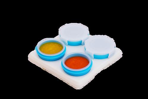 2Angels Silicone Food Storage Cups 60ml Set