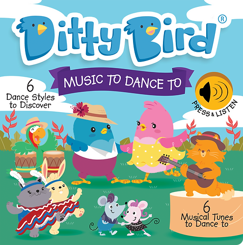 Ditty Bird Musical Book - Music To Dance To