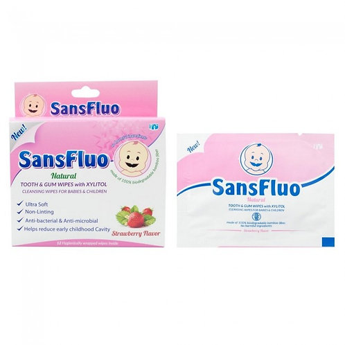 SansFluo Natural Tooth & Gum Wipes