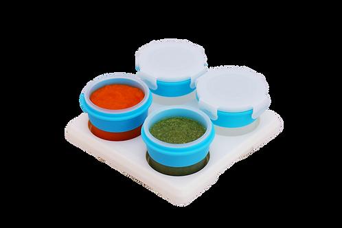 2Angels Silicone Food Storage Cups 120ml Set