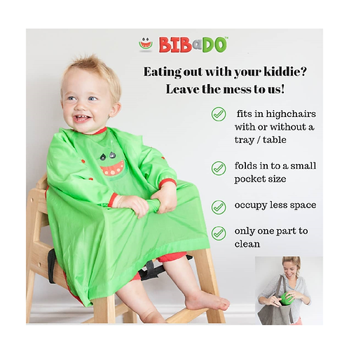 BIBaDO Catch it All, Cover All Baby Led Weaning Bib