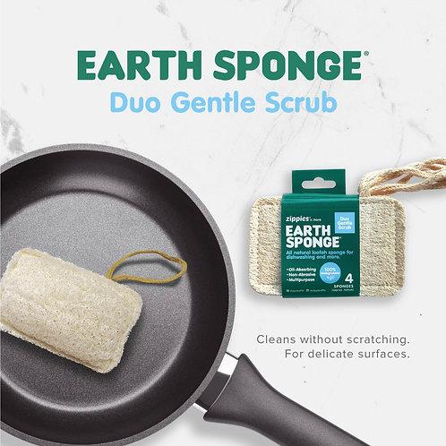 Zippies Earth Sponge Duo Gentle Scrub