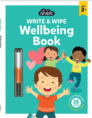 Junior Explorers Write and Wipe: Wellbeing Book