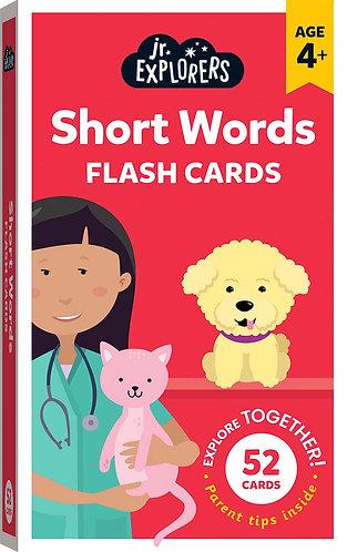 Junior Explorers: Short Words Flash Cards