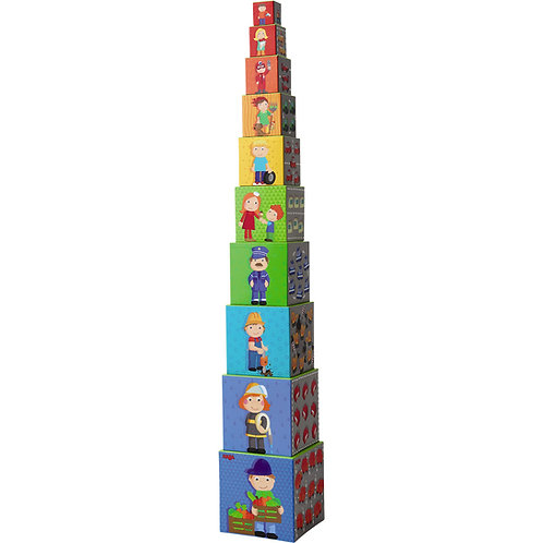 Haba Zippy Cars Stacking Cubes