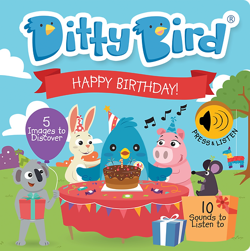 Ditty Bird Musical Book - Happy Birthday!