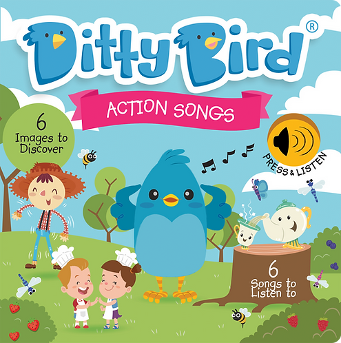 Ditty Bird Musical Book - Action Songs