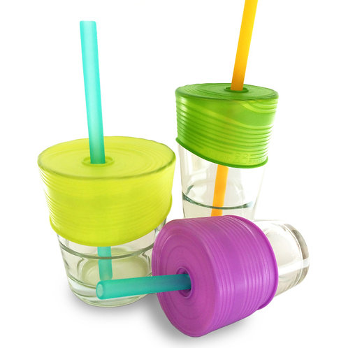 GoSili Silikids Siliskin Universal Straw Tops 3 Pack