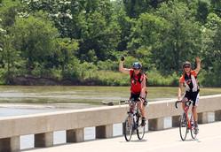 Bikers Crossing the Platte