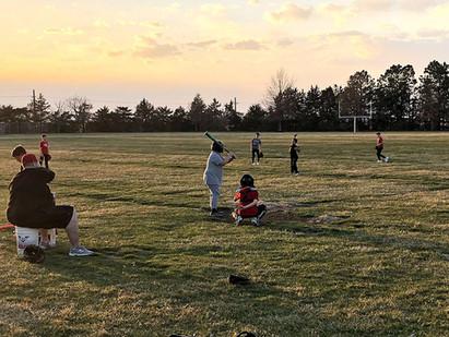 Playing Ball in the School Yard