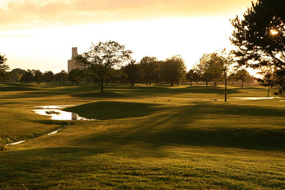 North Bend Golf Course after a rain