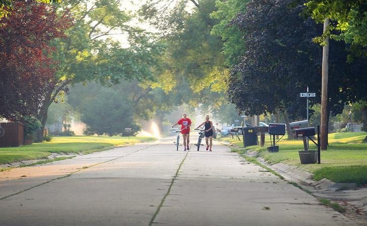 Walking bikes