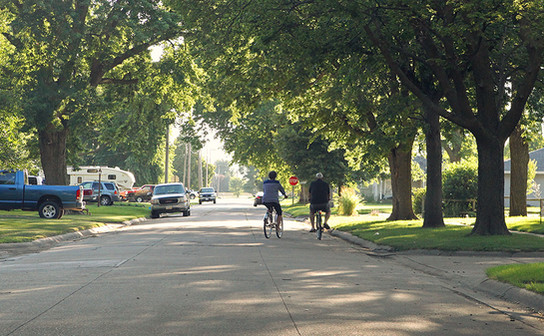 Summer evening bike ride in North Bend
