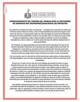 POSICIONAMIENTO DIP. OSCAR ARTURO HERRER