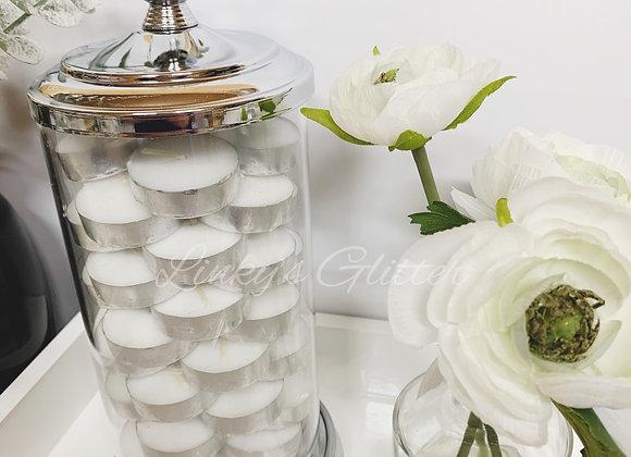 Diamonds Glass Jar