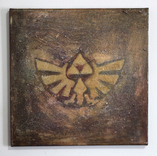 Zelda Triforce (Brown&Gold)