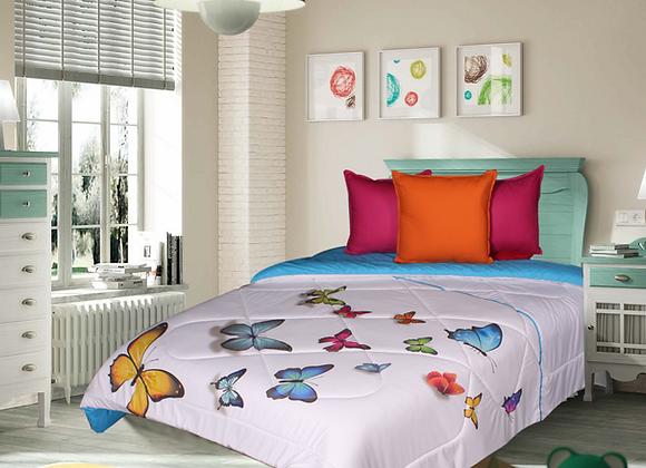 Edredón con dibujos de mariposas