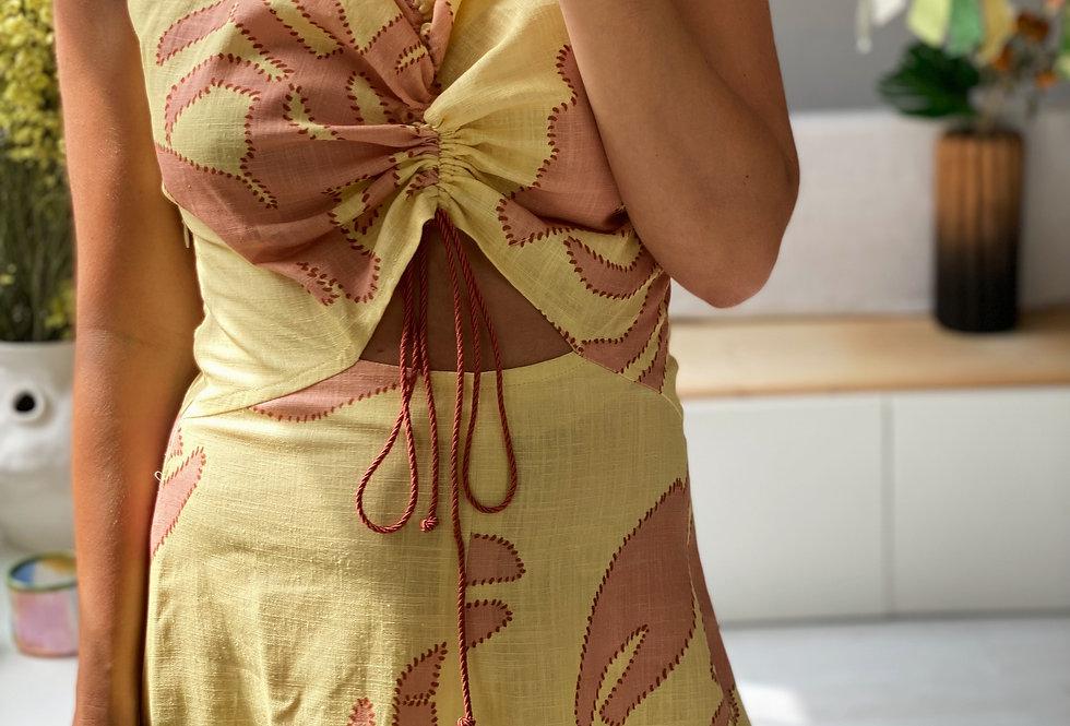 DALI Dress Yellow Background