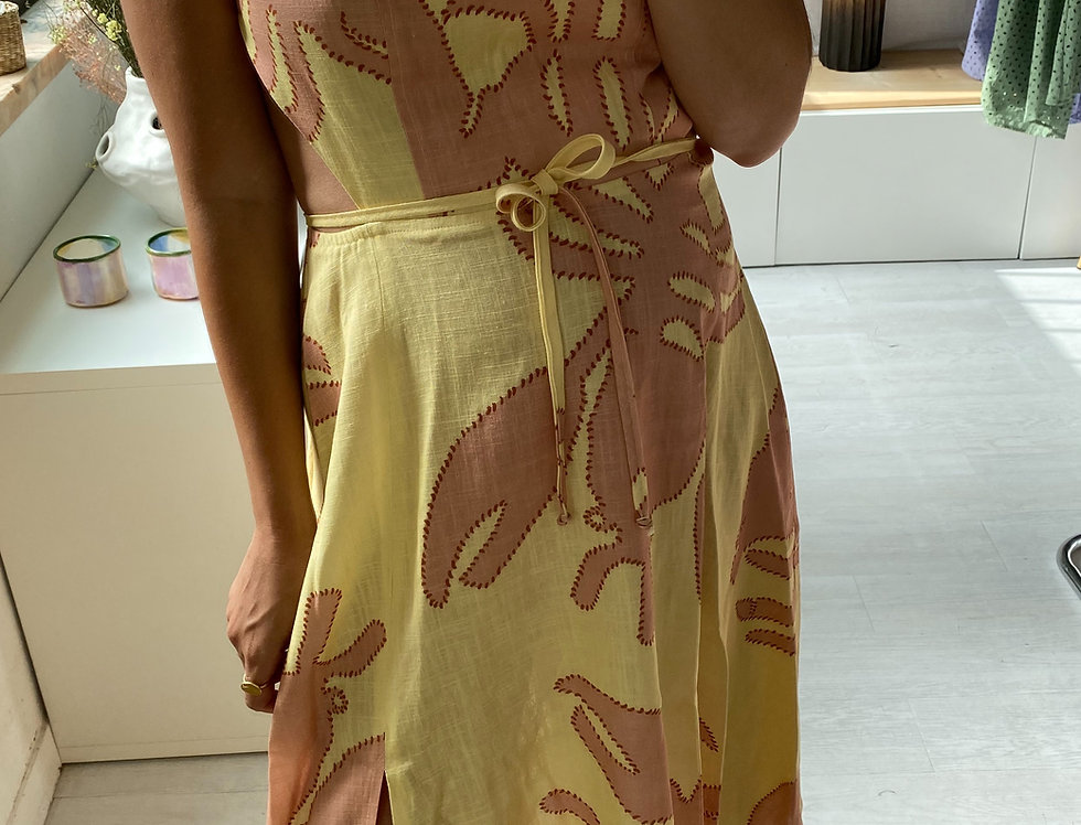 Mia Dress Made from our DALI PRINT