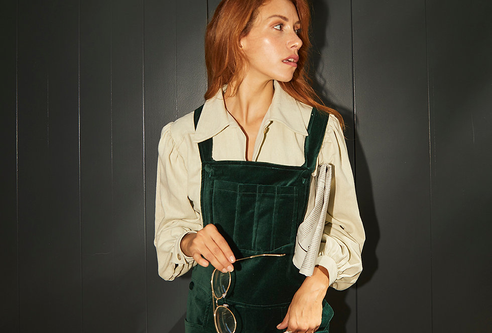 Forever Young Overalls   Deep Green