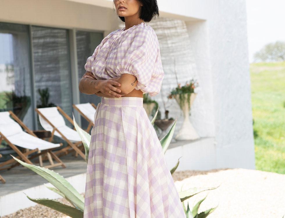 Rosabella Check Skirt